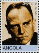 Otto Hahn (1879-1968), Angola stamp issued 2001.
