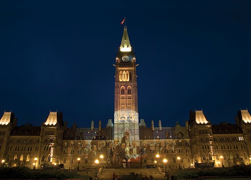 Ottawa Parliament Night scene